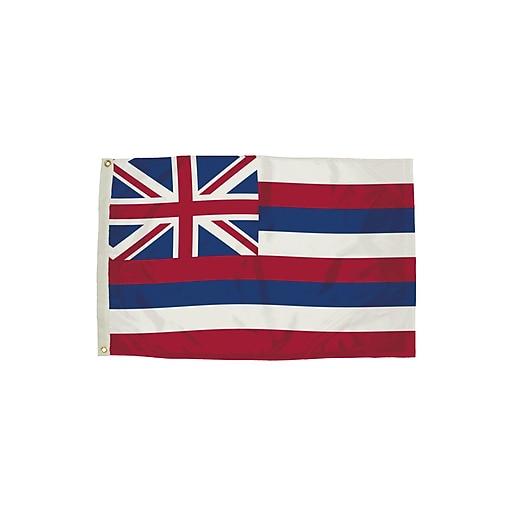 Flagzone Hawaii Flag with Heading and Grommets, 3' x 5', Each