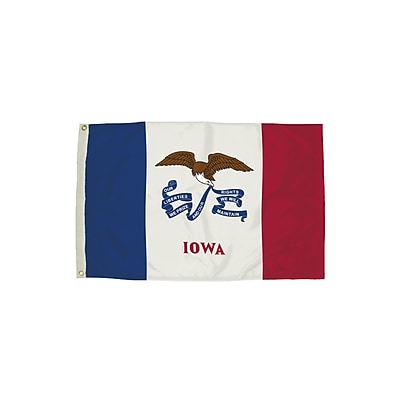 Flagzone Iowa Flag with Heading and Grommets, 3' x 5', Each