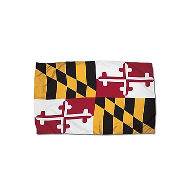 Flagzone Maryland Flag with Heading and Grommets, 3' x 5', Each