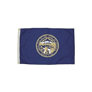Flagzone Nebraska Flag with Heading and Grommets, 3' x 5', Each