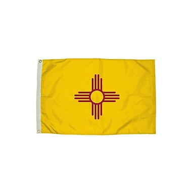 Flagzone New Mexico Flag with Heading and Grommets, 3' x 5', Each