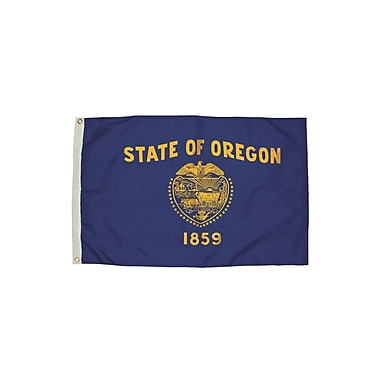 Flagzone Oregon Flag with Heading and Grommets, 3' x 5', Each