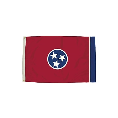 Flagzone Tennessee Flag with Heading And Grommets, 3' x 5' (FZ-2412051)