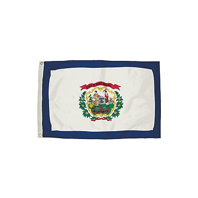 Flagzone West Virginia Flag with Heading and Grommets, 3' x 5', Each