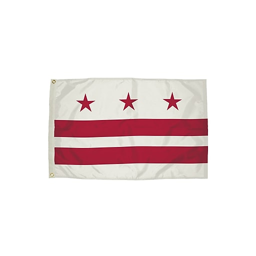 Flagzone District of Columbia Flag with Heading and Grommets, 3' x 5', Each