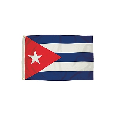 Flagzone Cuba Flag with Heading and Grommets, 3' x 5', Each