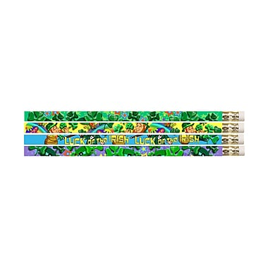 Musgrave Pencil Company Pencil, Lucky Shamrock Twinklers, 144/Pack (MUS1562G)