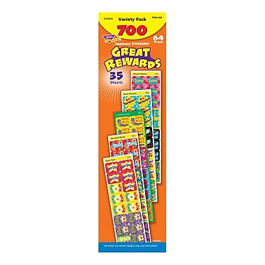 Trend Enterprises Great Rewards Applause Stickers Variety Pack, 700/Pack (T-47910)