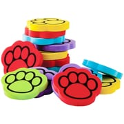 "Teacher Created Resources Foam Paw Print Counter Set, 1 1/4"", 100/Pack"