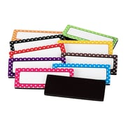 "Teacher Created Resources Polka Dots Magnetic Label Set, 2 1/2"" x 1"", 30/Pack"