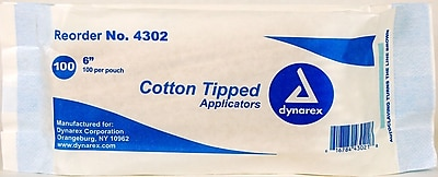 Dynarex Cotton Tipped Applicator, 6