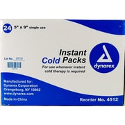 "Dynarex Disposable Instant Cold Pack, 5"" x 9"", 24/Pack"