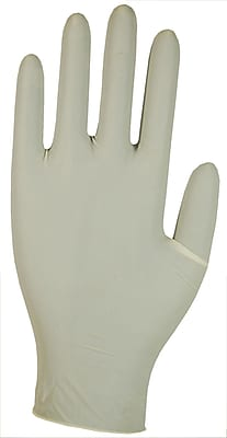 Dynarex Rubber Latex Exam Gloves; Off White, Large, 1000/Pack