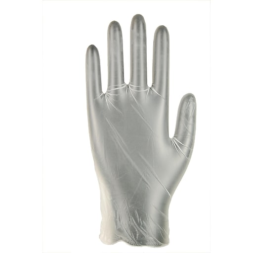 Dynarex® SafeTouch Clear Vinyl Exam Gloves, Medium, 1000/Pack