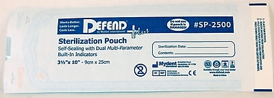 Defend PLUS® Sanax Sterilization Pouch With Dual Indicator, 3 1/2