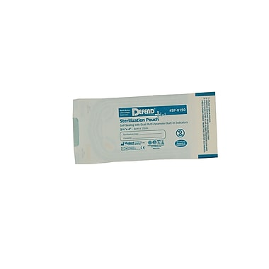 Defend PLUS® Sanax Sterilization Pouch With Dual Indicator, 2 1/4