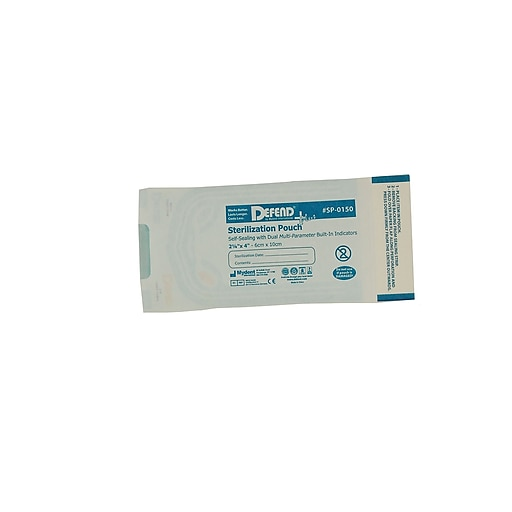 "Defend PLUS® Sanax Sterilization Pouch With Dual Indicator, 2 1/4"" x 4"""