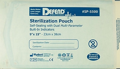 Defend PLUS® Sanax Sterilization Pouch With Dual Indicator, 9
