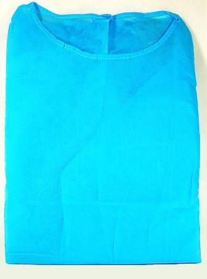 Cypress Spun-Bound Polypropylene Cover Gown With Elastic Cuff, Universal Size, Blue, 100/Pack