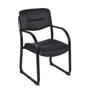 Regency Leather Conference Office Chair, Fixed Arms, Black (1006BK)