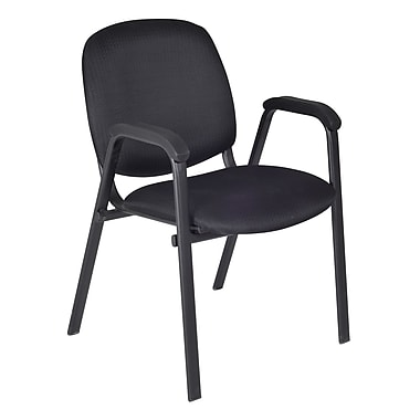 Regency Ace Stacking Metal & Fabric Chair, Midnight Black (2125BK)