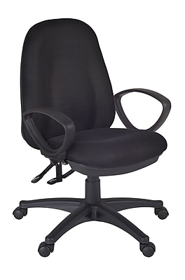 Regency Momentum Fabric Computer and Desk Office Chair, Fixed Arms, Black (2503BK)