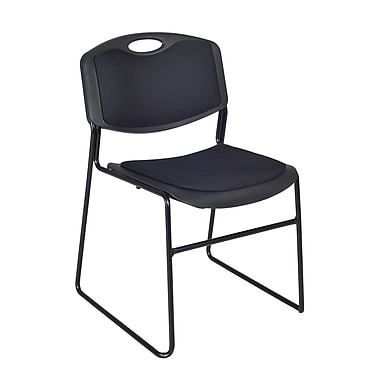 Regency Zeng Padded Stack Metal & Plastic Chair Black (4450BK)