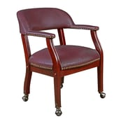Regency Ivy League Wood Bankers Office Chair, Fixed Arms, Burgundy (9004CBY)