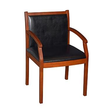Regency Vinyl & Wood Side Chair Cherry (9875CHL)