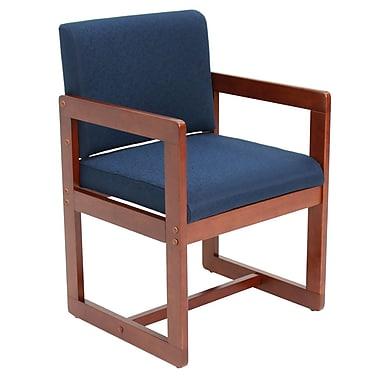 Regency Sled Base Side Wood & Fabric Chair, Blue (B61715CHBEK)