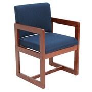 Regency Sled Base Side Wood & Fabric Chair, Blue (B61715CHBE)