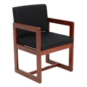 Regency Sled Base Side Wood & Fabric Chair, Black (B61715CHBK)