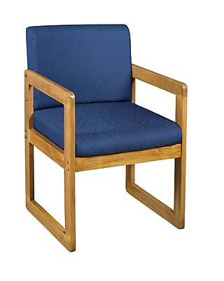 Regency Wood & Fabric Guest Chair, Blue (B61715MOBE)