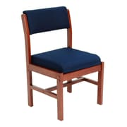 Regency Leg Base Side Wood & Fabric Chair, Blue (B61775CHBE)