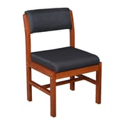Regency Leg Base Side Wood & Fabric Chair, Black (B61775CHBK)