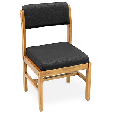 Regency Medium Leg Base Side Chair Wood & Fabric, Black (B61775MOBKK)