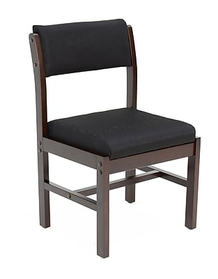 Regency Leg Base Wood & Fabric Side Chair, Black (B61775MWBK)