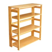 "Regency Flip Flop 34"" High Folding Bookcase, Medium Oak (FF3430MO)"