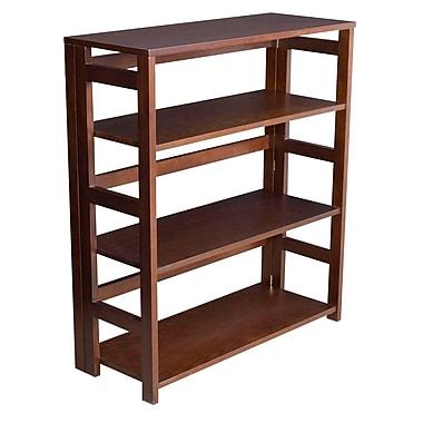 Regency Flip Flop 34-inch High Folding Bookcase, Mocha Walnut