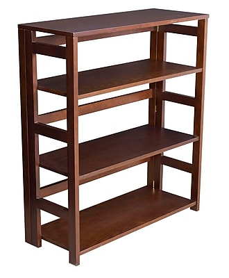 Regency Flip Flop 34-inch High Folding Bookcase, Mocha Walnut