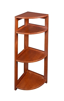 Regency Home Collection 34-inch High Corner Folding Bookcase, Cherry
