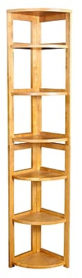 Regency Home Collection 67-inch 5-Shelf High Corner Folding Bookcase, Medium Oak
