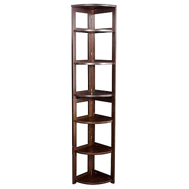 Regency Home Collection 12'' 5-Shelf Bookcase, Mocha Walnut (FFC6712MW)