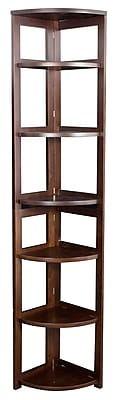Regency Home Collection 12'' 5-Shelf Bookcase, Mocha Walnut (FFC6712MW)