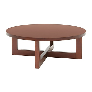 Regency Wood Round Veneer Coffee Table, Cherry