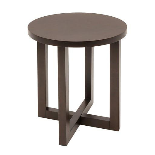 "Regency Chloe 21""Dia Round End Table, Mocha Walnut (HWTE2123MW)"