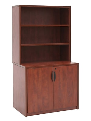 Regency Storage Cabinet with Open Hutch, Cherry