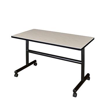 Regency Kobe 48'' Rectangular Flip Top Training Table, Maple (MKFT4824PL)