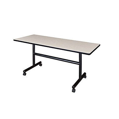 Regency 60-inch Metal & Wood Training Table, Maple