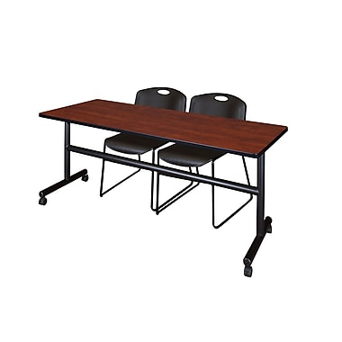 Regency Kobe 72'' Rectangular Training Table and Chairs with Zeng Chairs